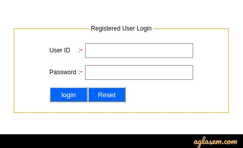Use the ID and password to make login