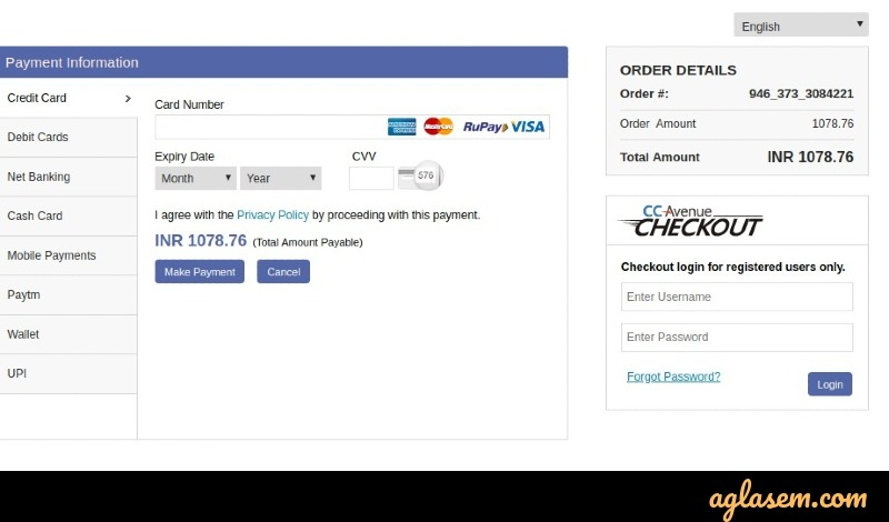 REVA CET 2020 application fee