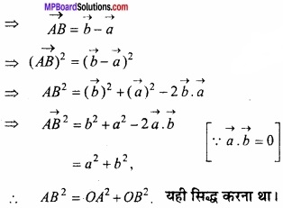 MP Board Class 12th Maths Important Questions Chapter 10 सदिश बीजगणित img 55