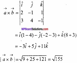 MP Board Class 12th Maths Important Questions Chapter 10 सदिश बीजगणित img 23