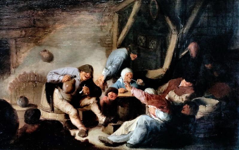 IMG_6548A Adriaen van Ostade 1610-1685  Haarlem Men and women in a tavern  Hommes et femmes dans une taverne  c 1635 Munich Alte Pinakothek