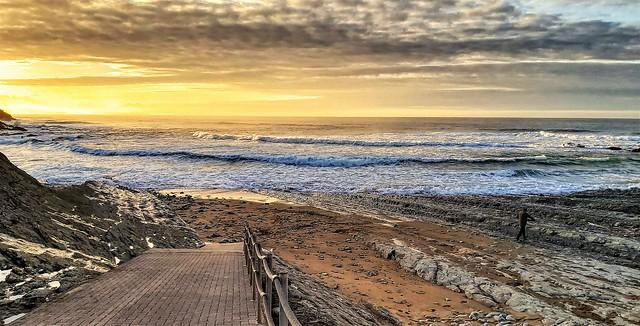 La playa de Tagle. Cantabria.