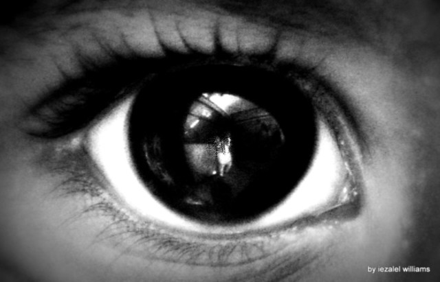 Child of Vision - Baby eye in Black and White IMG_1115-002