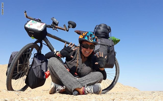 5519 Sara Haba, the first female pilgrim to reach Makkah on a bicycle (1)