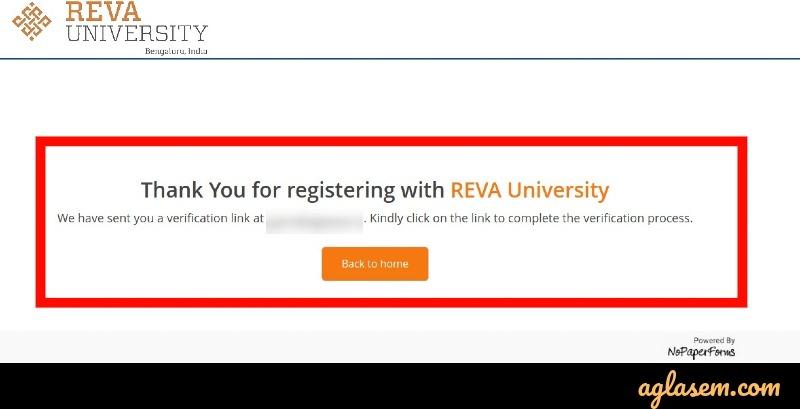 REVA CET 2020 Form