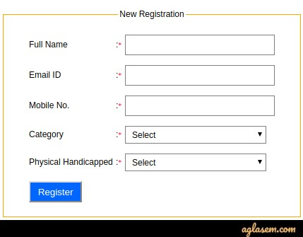 Register yourself by filling the details