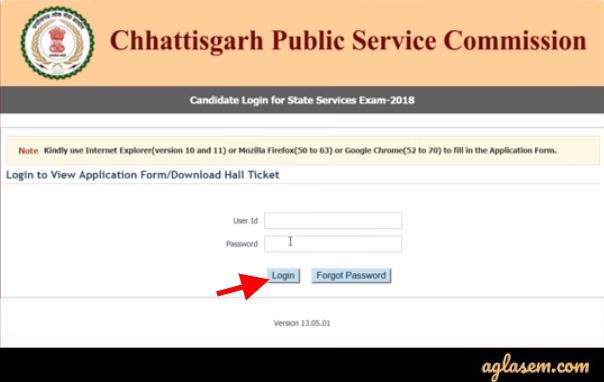 Chhattisgarh Civil Judge Application Form 2020