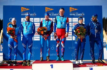 Česká štafeta slaví bronz na MS v zimním triatlonu