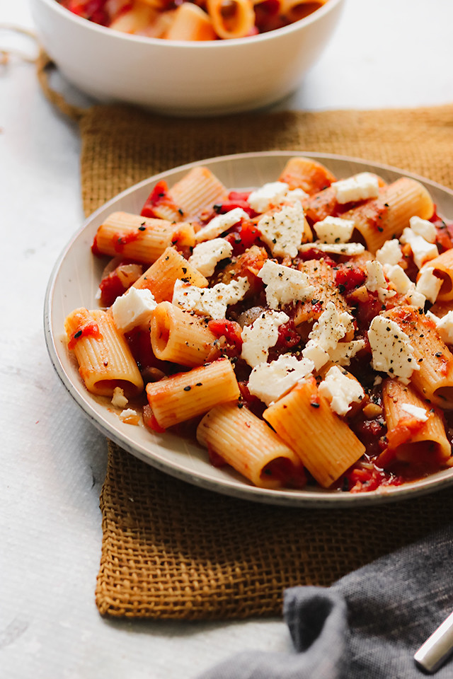 Rigatoni with Spiced Tomato Sauce
