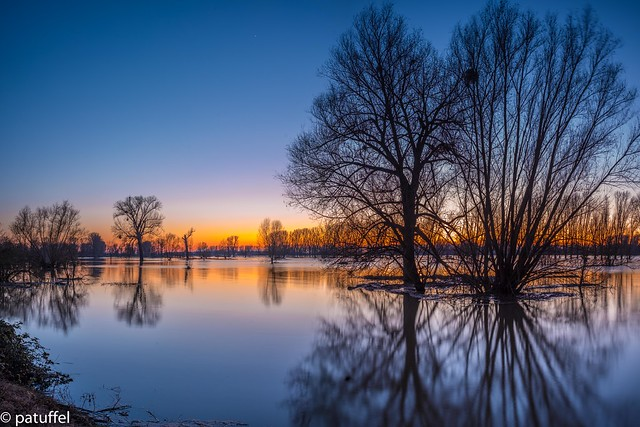 Beautiful reflection caused by flood