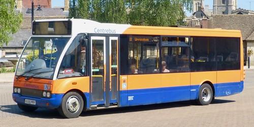KX55 PFF 'Centrebus' No. 230. Optare Solo M850 /1  on Dennis Basford's railsroadsrunways.blogspot.co.uk'