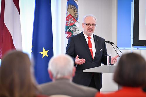"""10.02.2020. Valsts prezidents Egils Levits rīko diskusiju """"Latvija un Eiropas Padome – šodienas izaicinājumi un skats uz nākotni"""" par godu 25. gadadienai kopš Latvijas iestāšanās Eiropas Padomē"""