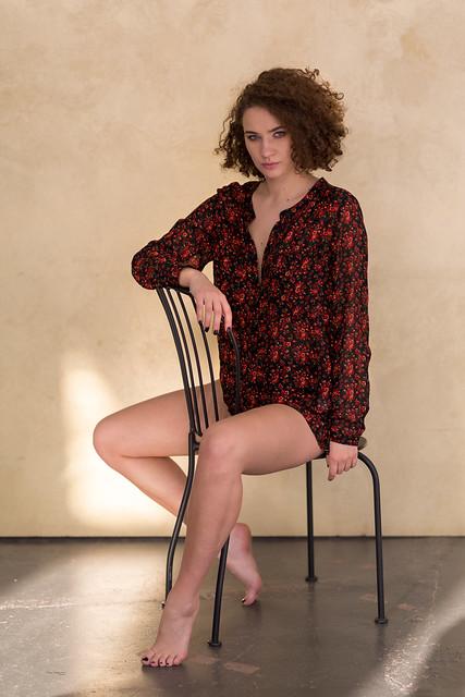Agnieszka on a chair