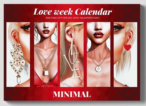 MINIMAL - Love Week Calendar