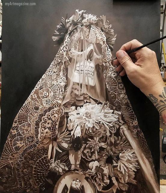 Painting Skull Surreal
