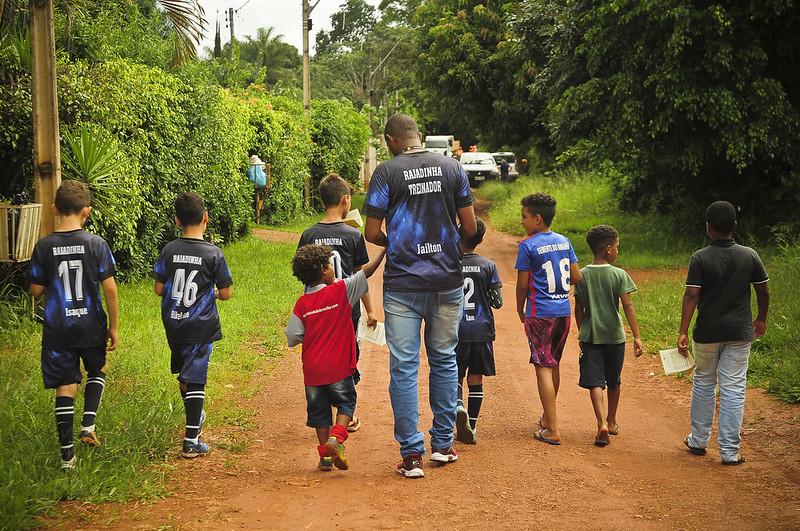 UBS de Rajadinha se junta a crianças em ação para prevenir dengue