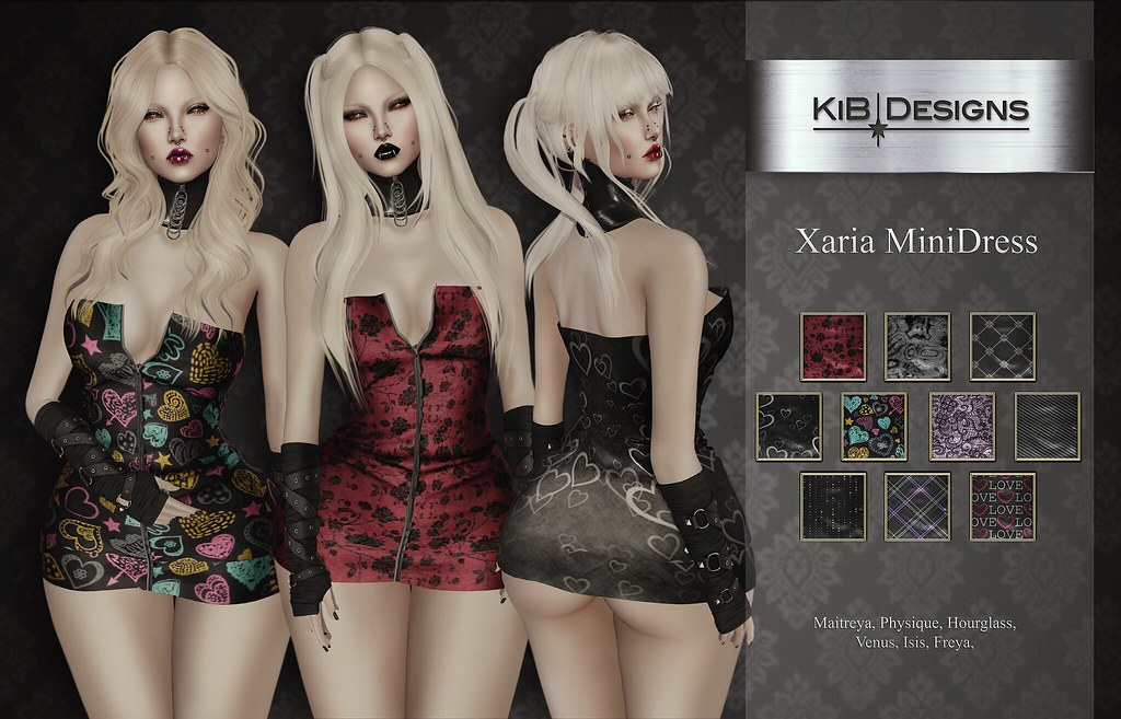 KiB Designs – Xaria MiniDress @Suicide Dollz