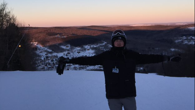Rex Charman snowboarding