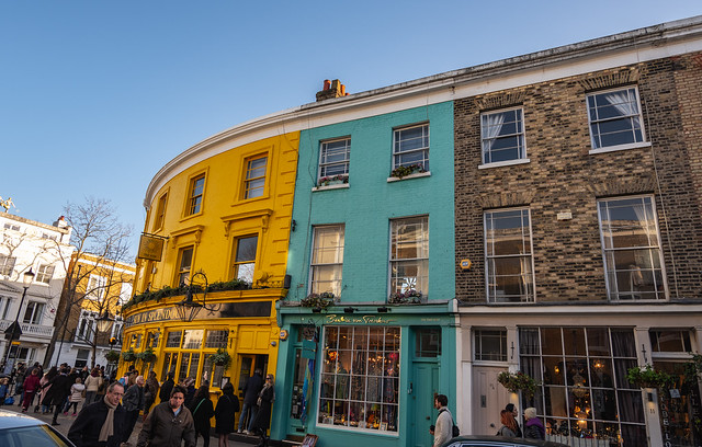 Notting Hill showing its colours