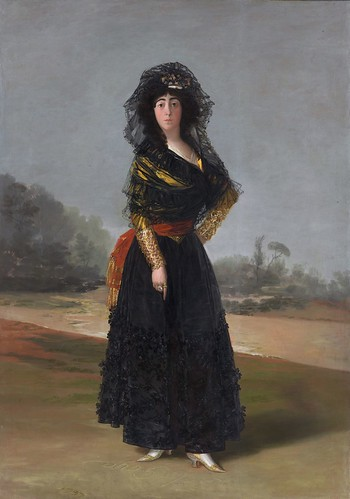 Goya (Francisco de Goya y Lucientes), The Duchess of Alba, 1797, oil on canvas, the Hispanic Society of America. From Houston says Olé to new Spanish exhibition from Hispanic Society.