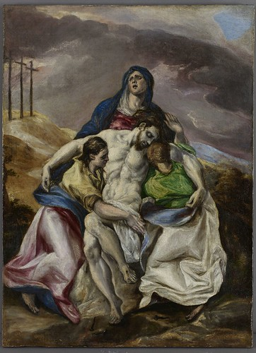El Greco (Doménikos Theotokópoulos), Pietà, c. 1574–76, oil on canvas, the Hispanic Society of America. From Houston says Olé to new Spanish exhibition from Hispanic Society.
