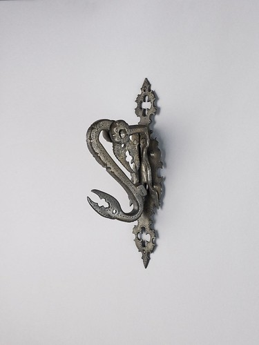 Spanish, Door Knocker with Crab Claws, c. 1500, iron and plate, the Hispanic Society of America. From Houston says Olé to new Spanish exhibition from Hispanic Society.