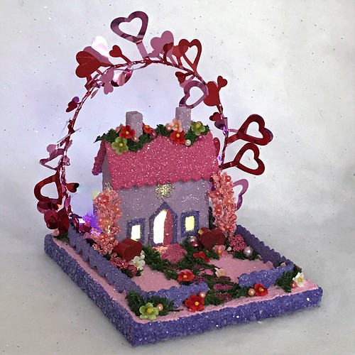 MINI Purple and Pink Valentine Putz House