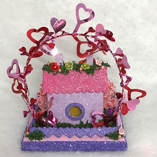 MINI Purple and Pink Valentine Putz House | by christmasnotebook