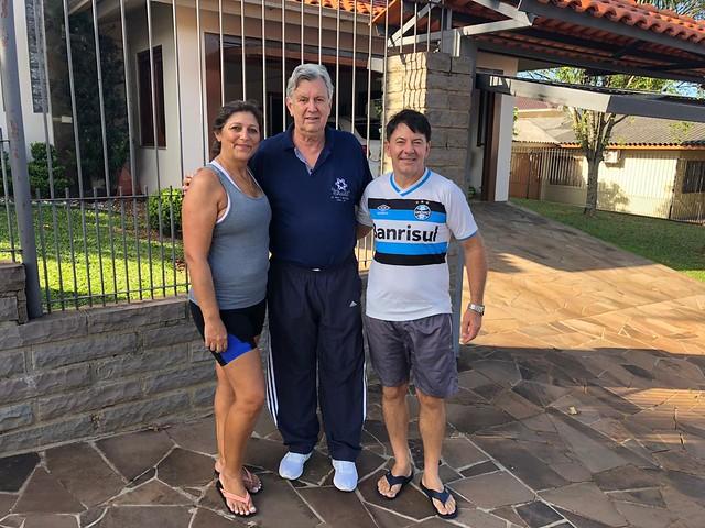 10/02/2020 Recepção ao município de Victor Graeff pelo presidente Progressista, Rui Wink e sua esposa