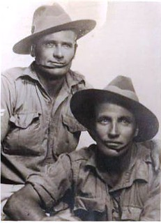 Arthur Diment (on the right) and friend - WW2