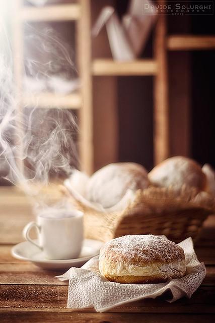 Wow! Bomboloni a colazione!