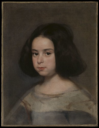 Diego Velázquez, Portrait of a Little Girl, c. 1638–42, oil on canvas, the Hispanic Society of America. From Houston says Olé to new Spanish exhibition from Hispanic Society.