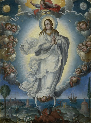 Fray Alonso López de Herrera, O.P., Virgin of the Immaculate Conception, 1640, oil on copper, the Hispanic Society of America. From Houston says Olé to new Spanish exhibition from Hispanic Society.