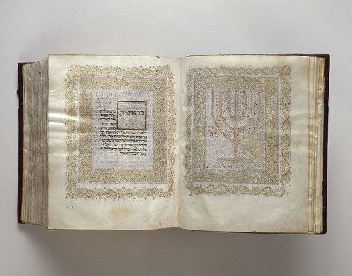 Spain and Portugal, Hebrew Bible, after 1450– 97, illuminated manuscript on vellum, the Hispanic Society of America. From Houston says Olé to new Spanish exhibition from Hispanic Society.