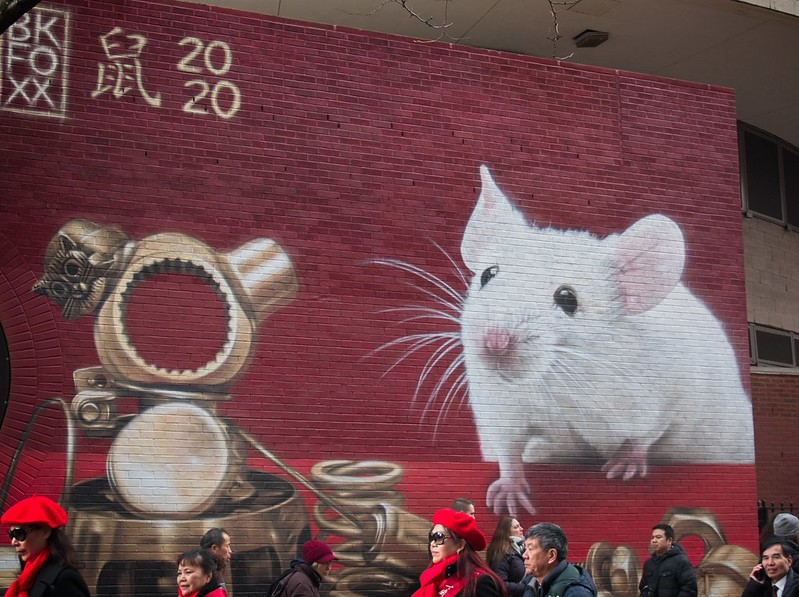 Year of the Rat mural in NYC