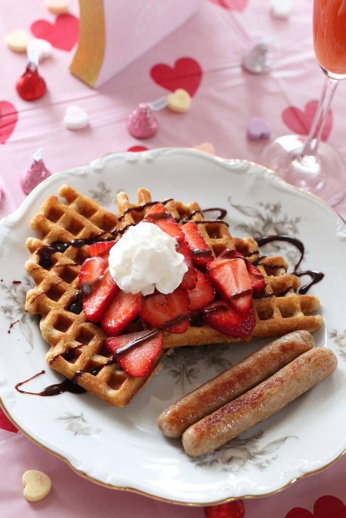 valentine waffles