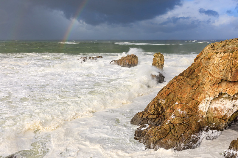 PiX  - Eric Gillard | Arc en ciel sur la côte sauvage de la presqu'île de Quiberon