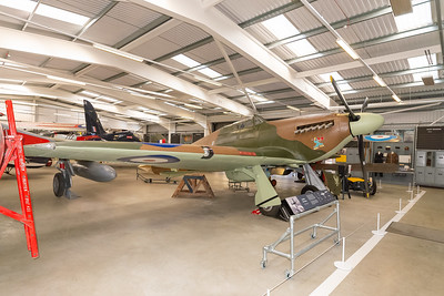 Hawker Hurricane in the Flight Shed