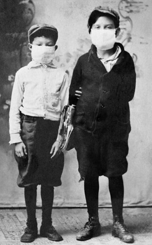 Children ready for school during the 1918 flu epidemic - Starke