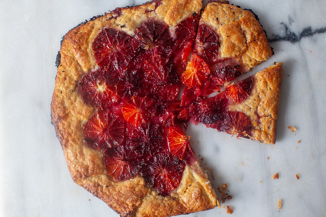 flaky blood orange tart