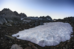 Snow on Bishop Pass
