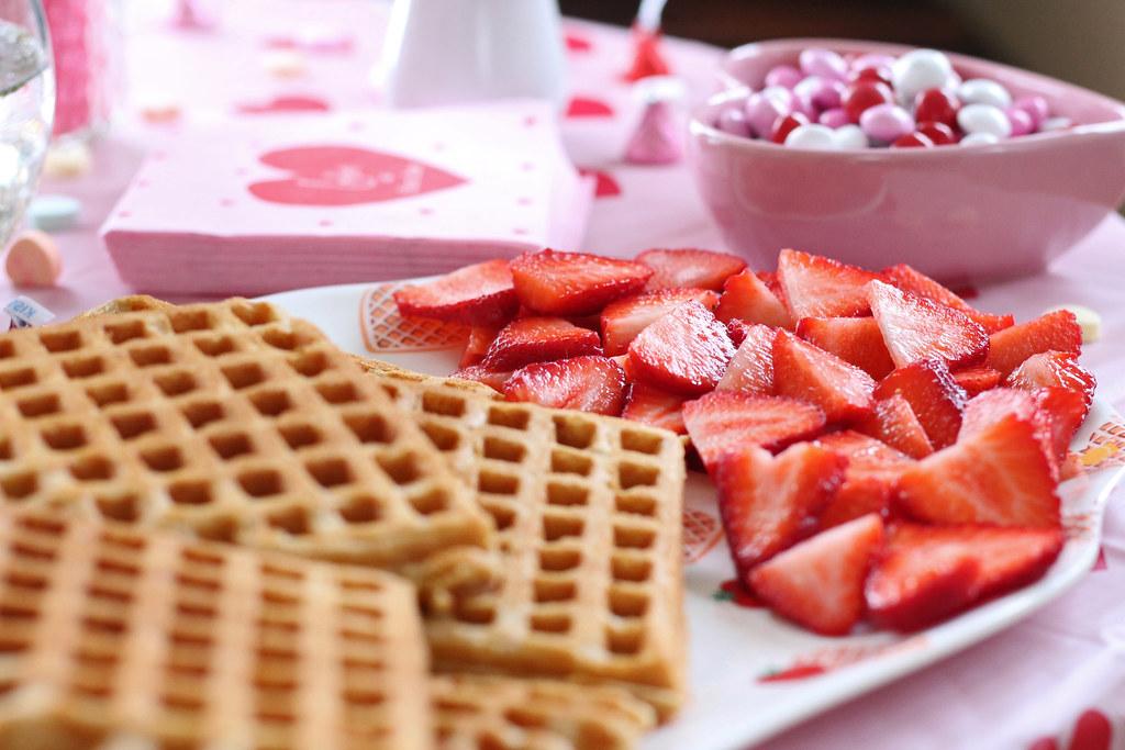 waffles galentines day