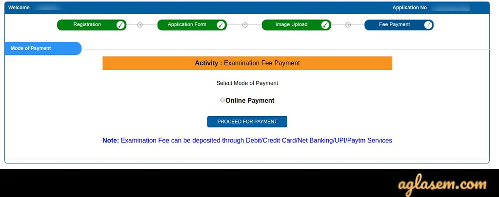 JEE Main 2020 Application Form payment