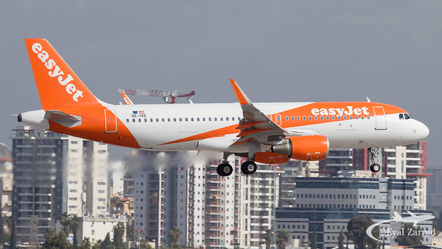 TLV - easyJet Airbus A320 OE-IVE