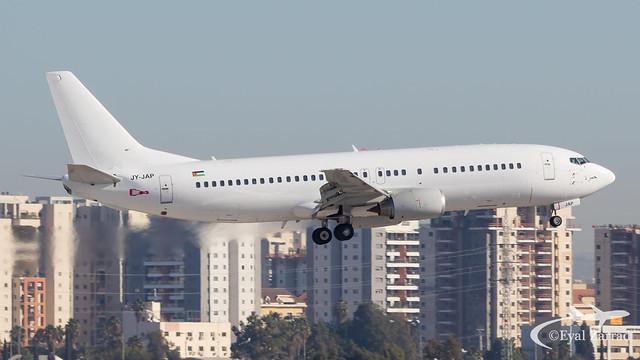 TLV - ** RARE ** Jordan Aviation Boeing 737-400 JY-JAP