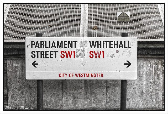Street Sign, Parliament Street - Whitehall SW1, Westminster, London, England UK