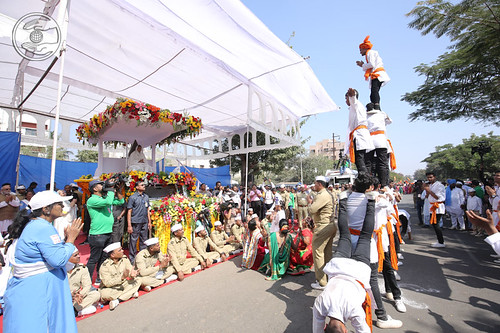 Traditional dance by devotees
