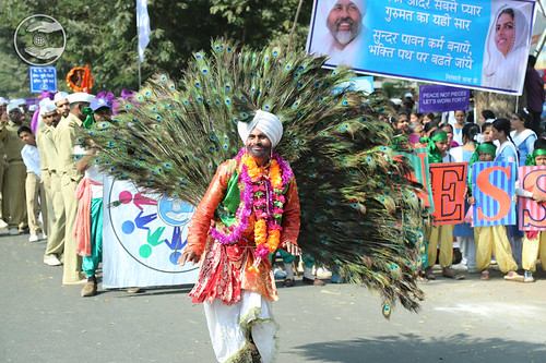 Peacock dance being presented by devotee