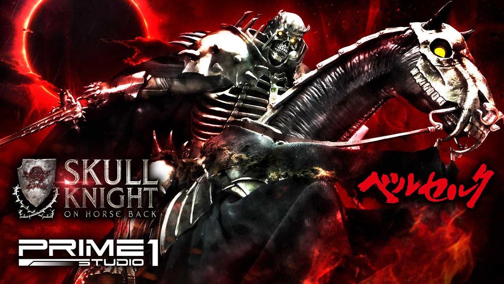 席捲全身的壓倒性魄力! Prime 1 Studio《烙印勇士》骷髏騎士 (髑髏の騎士) 騎馬Ver UPMBR-14 1/4 比例全身雕像 普通版/DX版
