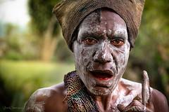 Silent woman, Asaro Tribe, Papua New Guinea